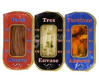 Arteiñaki Boquerones, anchoas y mejillones, nuevo pack ahorro 114 g