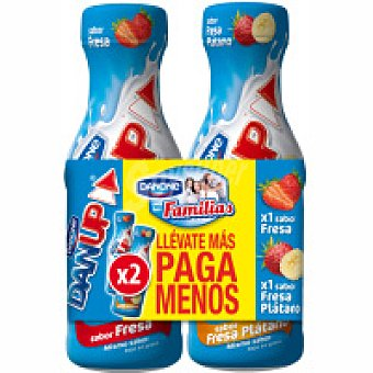 Danone Dan`up de fresa-plátano Pack 2x600 ml