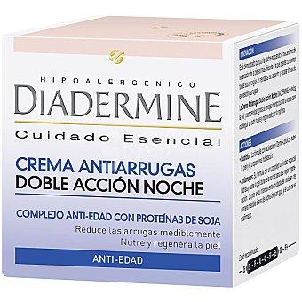 Diadermine Crema nutritiva antiarrugas de noche complejo anti-edad con proteínas de soja tarro 50 ml nutre y regenera la piel Tarro 50 ml