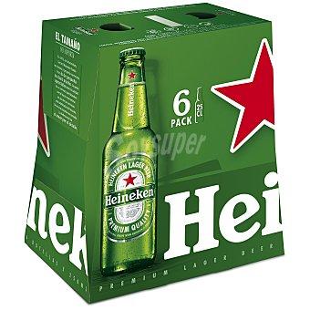 Heineken Cerveza rubia holandesa Pack 6 botellas x 25 cl