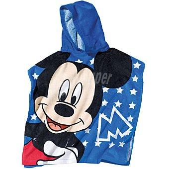 DISNEY Mikey 92141 poncho infantil con capucha en color azul