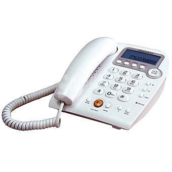 DAEWOO DTC-310 Teléfono sobremesa con manos libres en color blanco