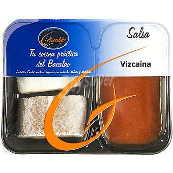 Giraldo bacalao + salsa Vizcaína bandeja 300 g