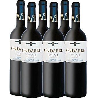 ONDARRE vino tinto reserva D.O. Rioja caja 6 botellas 75 cl 6 botellas 75 cl