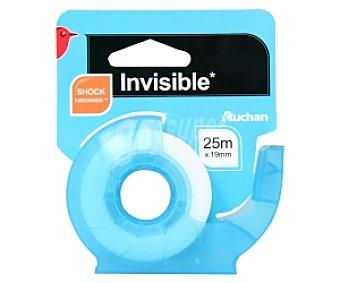 Auchan Rollo de cinta invisible de 19 milímetros con dispensador 25 metros