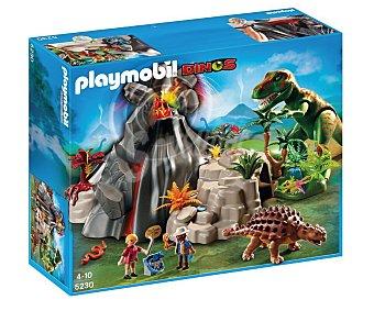 Playmobil Playset de juego Volcán con Tiranosaurius, modelo 5230 Dinos Dino Volcán con Tiranos.