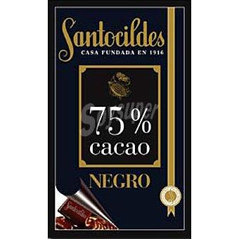 Santocildes Chocolate negro 75% cacao Tableta 200 g