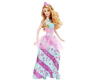 Barbie Surtido de muñecas princesas con tiara y peine 1 unidad