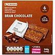 Barritas bran con chocolate Paquete 240 g Eroski