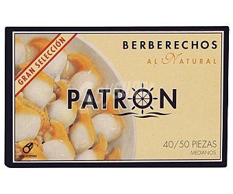 Patron gran seleccion Berberechos al natural 40-50 piezas Lata 63 g (neto escurrido)