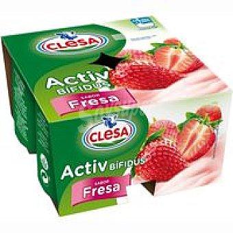 Clesa Bífidus de fresa Pack 4x115 g