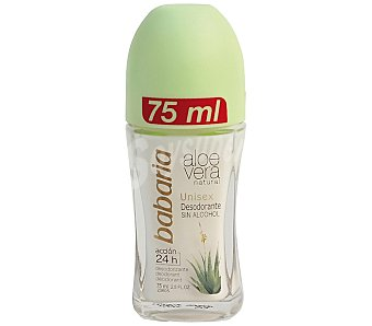 Babaria Desodorante roll-on aloe vera sin alcohol Envase 75 ml