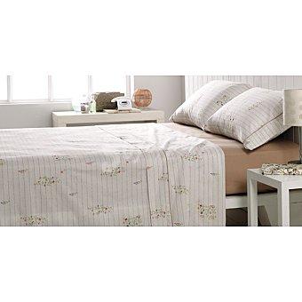 CASACTUAL Letters Juego de cama en tonos tostados con flores y texto para cama 105 cm