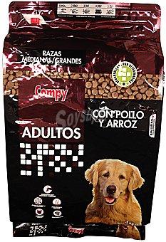 Compy COMIDA PERRO ADULTO CROQUETA POLLO ARROZ PAQUETE 4 kg