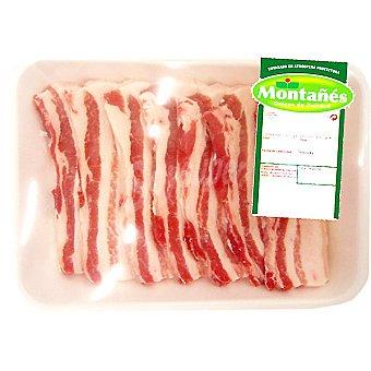 Panceta de cerdo en filetes bandeja familiar peso aproximado 1 kg