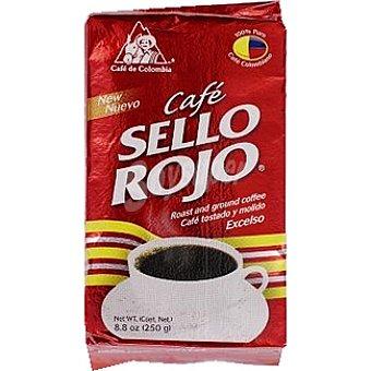 SELLO ROJO Café Molido 100% Colombia Paquete 250 g