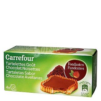 Carrefour Tartaletas sabor chocolate y avellanas 130 g