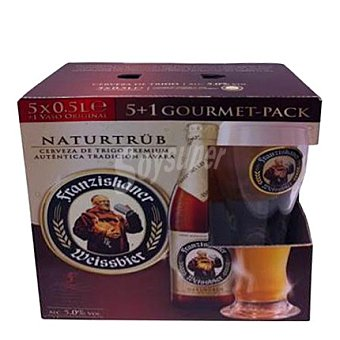 Franziskaner Cerveza alemana Pack 5x50 cl
