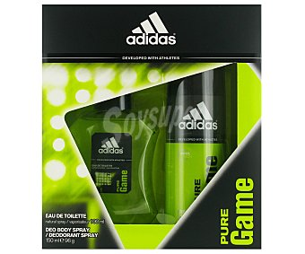 Adidas Estuche Colonia Hombre Pure Game Colonia 100ml + Desodorante 150ml 1u