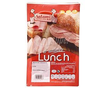 Lunch de sabor ahumado, cortado en finas lonchas 80 g