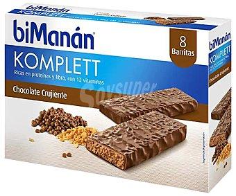 Bimanan Barritas de chocolate bimanán Caja 8 uds