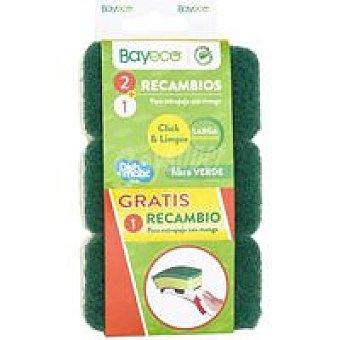 Bayeco Recambio verde para estropajo con mango pack 2 unid
