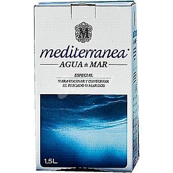 Mediterránea Agua de mar especial para cocinar y conservar el pescado y marisco Envase 1,5 l