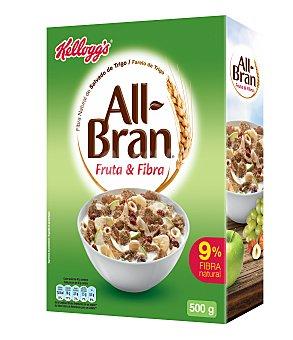 All bran Kellogg's Cereales con fruta y fibra all-bran de kellogg`s paquete 500 gramos
