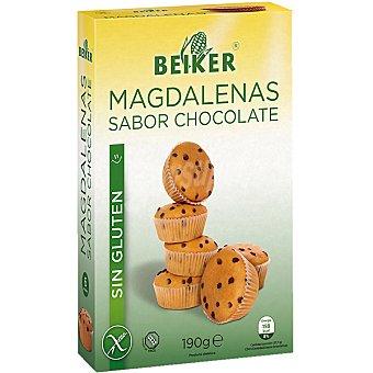Beiker Magdalenas sabor chocolate sin gluten envase 190 g Envase 190 g