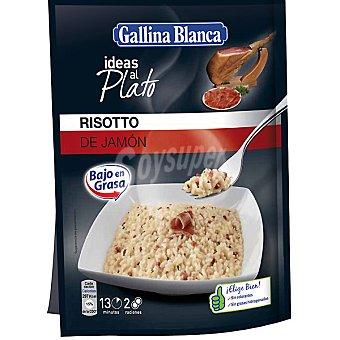 GALLINA BLANCA IDEAS AL PLATO preparado para cocinar risotto de jamón bajo en grasa  sobre 175 g