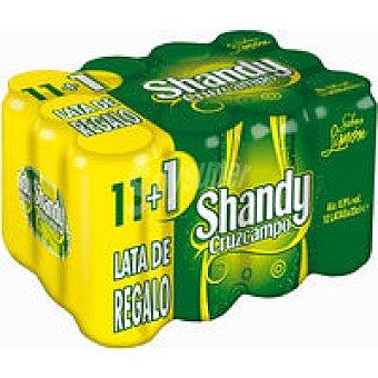 Shandy Cruzcampo Cerveza Pack 11+1x33 cl