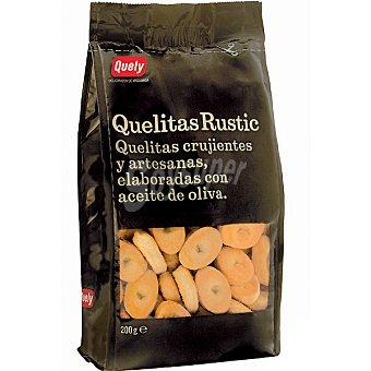 Quely Mini galletas crujientes y artesanas elaboradas con aceite de oliva Quelitas Rustic Bolsa 200 g