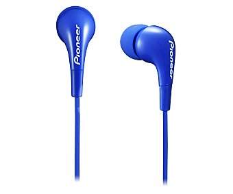 Pioneer Auriculares tipo intrauricular con cable, color azul SE-CL502-L