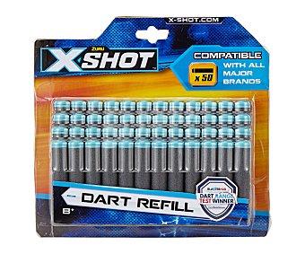 Xshot Pack de 50 dardos estandar en blister, XSHOT. Pack de 50