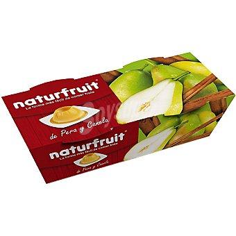NATURFRUIT Postre de pera y canela sin grasa 88% flan de frutas y 12% sirope de frutas Pack 2 unidades 100 g