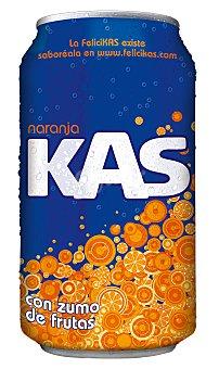 Kas Refresco de naranja Lata 33 cl