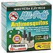 Insecticida eléctrico antimosquitos recambio 2 uds Kill-Paff