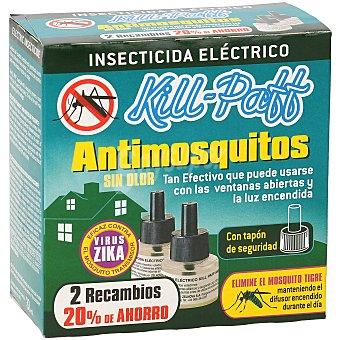 Kill-Paff Insecticida eléctrico antimosquitos recambio 2 uds