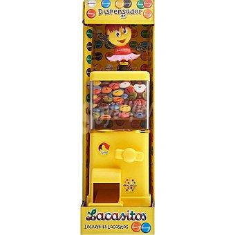 Lacasitos Lacasa Dispensador de lacasitos con una bolsa de grageas de colores y chocolate (190 gr 1 ud