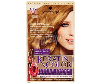 Keratin Color Schwarzkopf Coloración Permanente nº 7.3 Rubio Dorado 1 unidad
