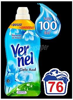Vernel Suavizante para todo tipo de ropa Cielo Azul  Botella 76 dosis