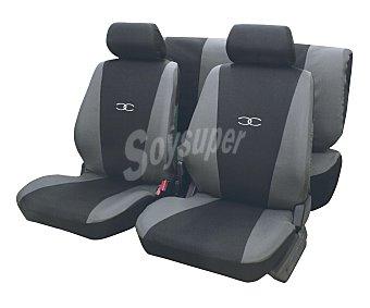 ERMA Juego de fundas para asientos de automóvil, modelo Suzuka, de talla única y fabricadas en poliester de color negro y gris 1 unidad