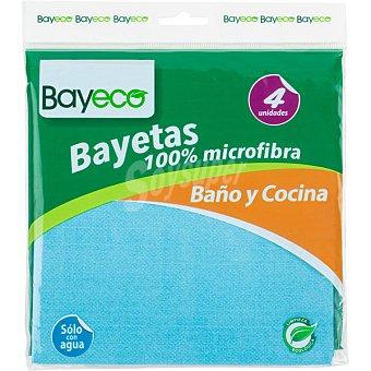 BAYECO Bayeta microfibra especial para cocina y baño  envase 4 unidades