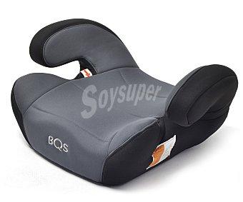 BQS Elevador bebé para grupo 3, de 22 a 36 KG, desenfundable y lavable, regulador de altura para el cinturón, color negro 22 a 36 KG