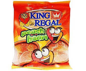 King Regal Corazones de melocotón Bolsa de 100 gr