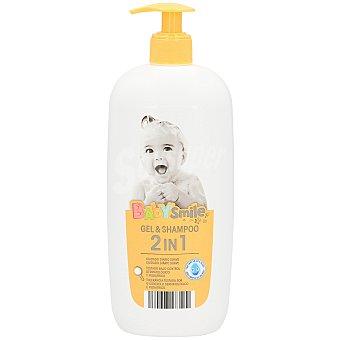 Baby Smile Gel y champú 2 en 1 suave dosificador 750 ml