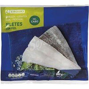 Eroski Filete de merluza con piel Bolsa 540 g