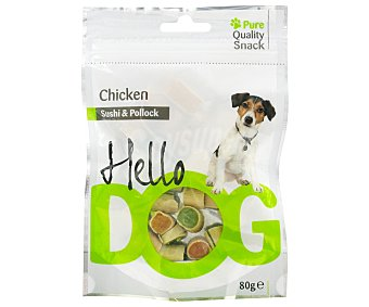 HELLO DOG Chicken shusi&pollo 80 Gramos