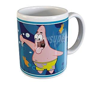 TABERSEO Mug o taza grande baja con asa de cerámica, ilustraciones de Bob Esponja 1 Unidad
