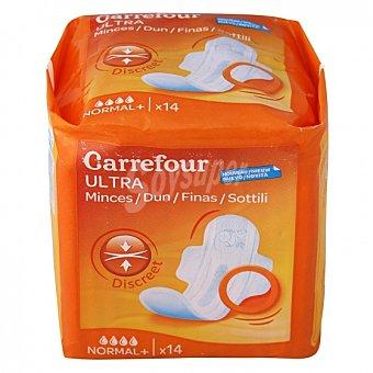 Carrefour Compresas ultra-fina normal con alas 14 ud 14 ud